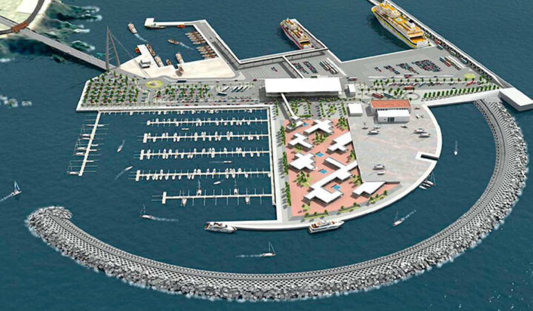 Plano del Puerto Fonsalia Guia Isora
