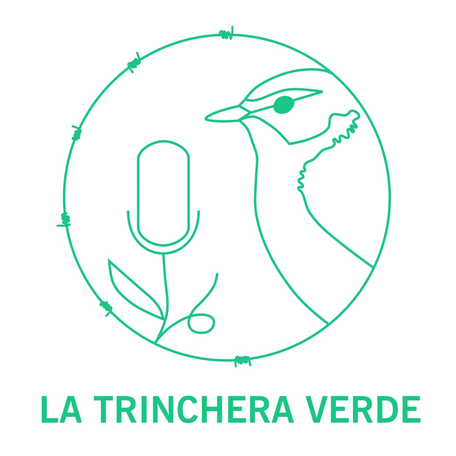 Nuevo Logo La trinchera Verde Podcast