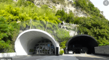 Tunnel respetando el paisaje