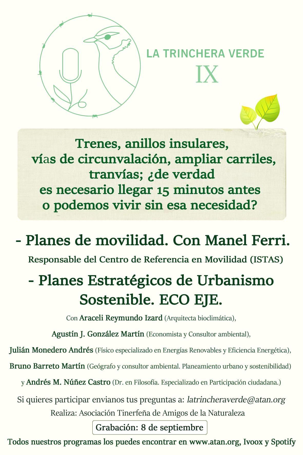 Posdcast Urbanismo Sostenible. Eco Eje - Planes de Movilidad con Manel Ferri