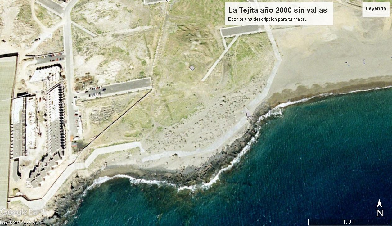 Dunas en La Tejita año 2000, foto más actual