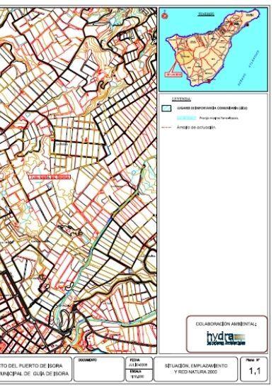 Plano de situación del puerto de Fonsalía