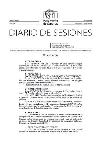Puerto Guía de Isora en el Parlamento de Canarias