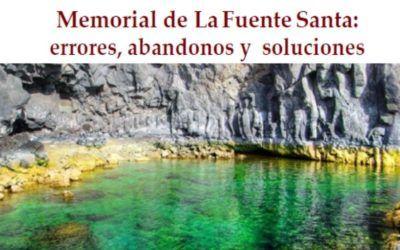 Memorial de La Fuente Santa: errores, abandonos y soluciones (Octubre de 1995-Agosto de 2021)