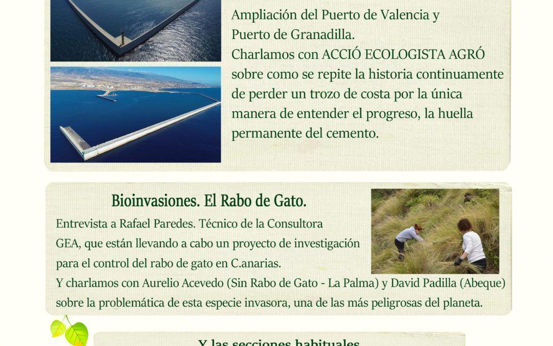 La Trinchera Verde 20 – Puertos sin Destino. La Bioinvasión del Rabo de Gato